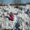 Cate enjoying the snow