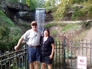 Bike ride with Amanda to Minnehaha Falls