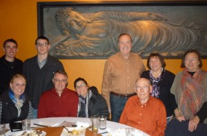 John and Nancy's family, Robert, Ali, and Sam, my dad and my sister Sheri