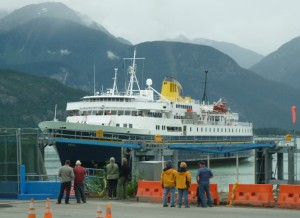 Ferry arriving at Haines