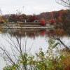 Fall colors walking trail around Winton Lake